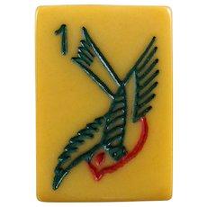 TYL - Soaring Sparrow style vintage Bakelite Mah Jong game - 152 tiles ready for NMJL play