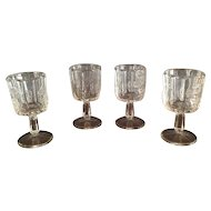 "EAPG ""Paneled Grape"" Pattern Wine Glasses"