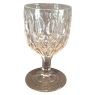 "EAPG ""Almond Thumbprint"" Pattern Goblet"