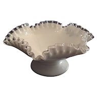 "Fenton ""Silver Crest"" Footed Bowl"