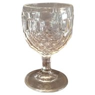 "Flint ""Honeycomb"" Pattern Wine Glass"