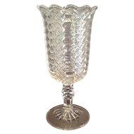 """EAPG """"Jacob's Ladder"""" Pattern Celery Vase"""