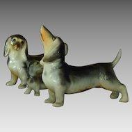 Family of Ceramic Dachshund Figurines
