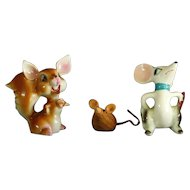 Group of Mice and A Squirrel Figurines