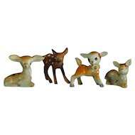 Group of 4 Ceramic Fawn Figurines