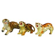 Group of Ceramic Big Cat Figurines