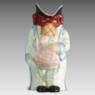 Figural Hound-Form Toby Jug