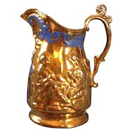 Copper Lustre glazed pitcher