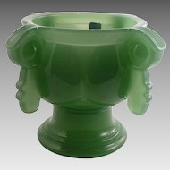 "Imperial ""Cathay"" Pattern Green Candy Dish"
