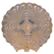 Cambridge Glass Caprice Pattern Footed Torte Plate