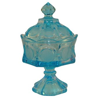 Fostoria Coin Line Footed Candy Dish