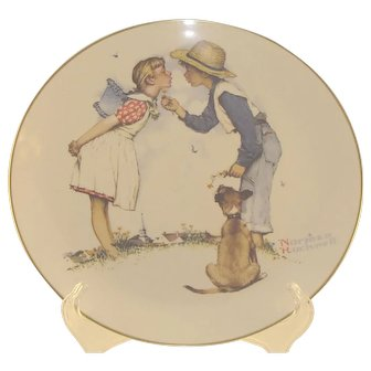 4 Norman Rockwell Collector's Plates