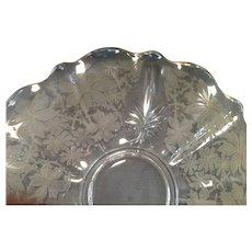Fostoria Glass Torte Plate