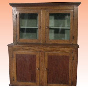 Impeccably Rendered Salesman's Sample of Step Back Cupboard