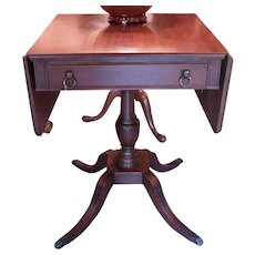 Great Vintage Duncan Phyfe Style Pedestal End Table