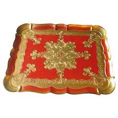 Vintage Woodenware Italian Tole Tray