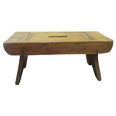Antique Small Oak Primitive Bench from Germany
