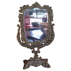 Gilded Iron Victorian Swivel Mirror