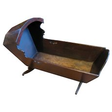 Fully Functional Primitive 18th C Baby Cradle