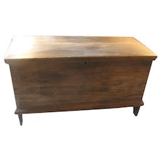 Early Massachusetts Pine Blanket Box Circa 1790