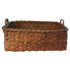 Gorgeous Antique Native American Splint Basket Circa 1865