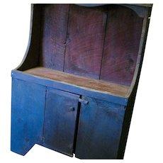 19th C Primitive Large Dry Sink in Original Paint