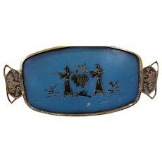 Great Mid-Century Modern Brass Judaica Challah Tray