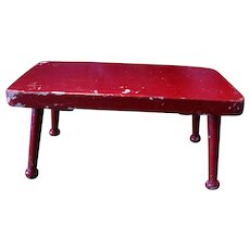 Great-Looking Apple Red Footstool