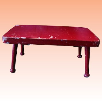 Great-Looking Apple Red Footstool