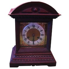 Antique Walnut Junghans Mantle Clock for Parts or Repair