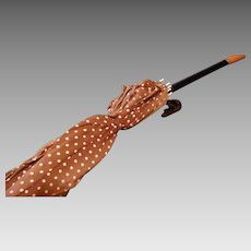Vintage Umbrella with Butterscotch Bakelite Handle