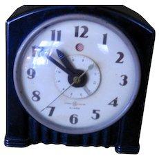 Excellent Vintage GE Art Deco Shelf Alarm Clock
