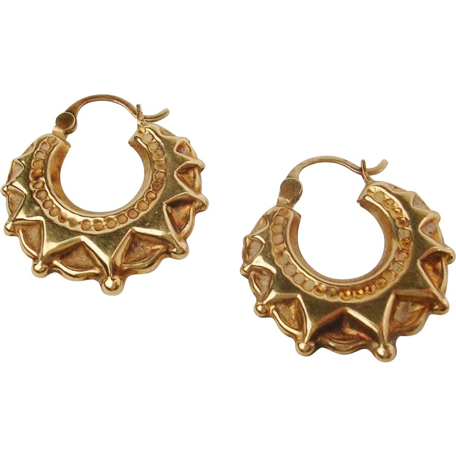 Creoles Gold-plated Leaves