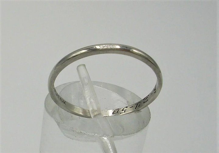 Vintage Platinum Wedding Band C 1950 Eclectic Collections Ruby Lane