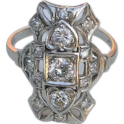 Edwardian Platinum and Diamond Ring, c. 1915