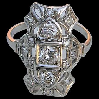Edwardian Platinum and Diamond Ring, c. 1915