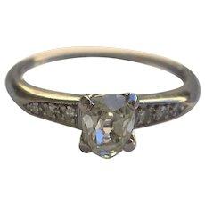 Vintage .53 Carat Old Cut Diamond Engagement Ring-Platinum-c.1930s
