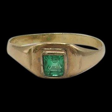 Victorian Emerald Ring-14K-Unisex