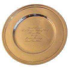 Tiffany Maker's Sterling Bread Plate-Horse Trophy c.1920