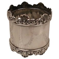 Antique Shreve Sterling Napkin Ring c. 1880