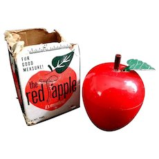 The Red Apple Tape Measure It's Magnetized W/Most of Original Box