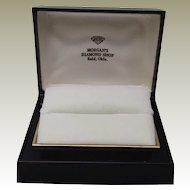 Warner Double Ring Box White Velvet Interior Morgans Diamond Shop Enid OK