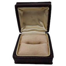 Larger Faux Leather Ring Display or Storage Box with Faille and Satin Interior