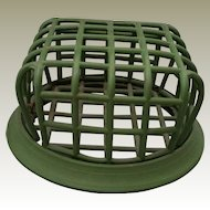 Jadite Green Flower Frog Cage Style by Beagle Mfg Co No 72