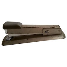 Vintage Bates 56 Stapler Industrial Gray Office Supplies Chippy Paint Staple or Tack