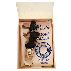 Standing Poodle Vintage Rotary Dial Phone Dialer in Original Packaging - Red Tag Sale Item