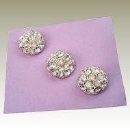 Pretty Rhinestone Half Ball Shank Buttons