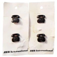 JBH International 4 Black Dial Phone Buttons