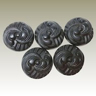 Killer Great Set of 5 Big Celluloid Buttons