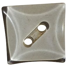 Ginormous Square Clear Lucite Button